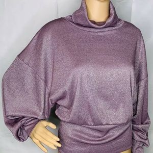 NWT Free People Sweater Metallic Turtleneck Medium